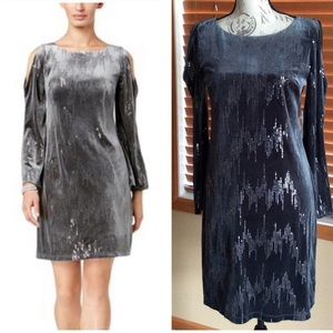 NWT Jessica Howard Sequined Velvet Dress